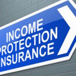 Blue arrow showing where to buy income protection insurance